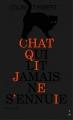 Couverture Chat qui lit jamais ne s'enuie Editions Thierry Magnier 2014