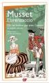 Couverture Lorenzaccio, On ne badine pas avec l'amour et autres pièces Editions Flammarion (GF) 2013