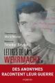 Couverture Lettres de la Wehrmacht Editions Perrin 2014