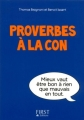 Couverture Proverbes à la con Editions First 2014