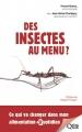 Couverture Des insectes au menu ? Editions Quae 2016