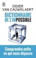 Couverture Dictionnaire de l'impossible Editions J'ai Lu (Document) 2014