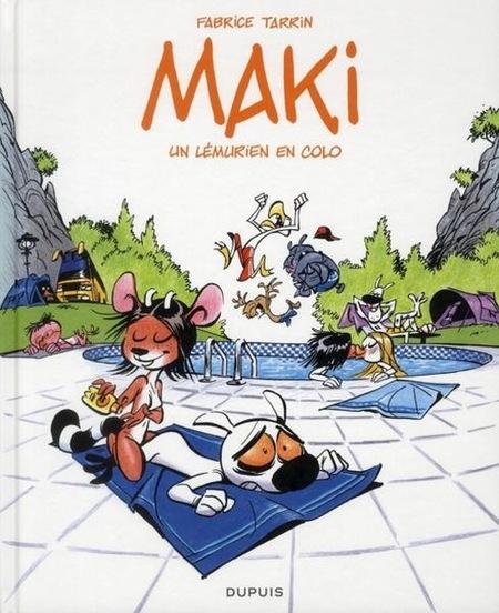 Couverture Maki, tome 1 : Un lémurien en colo