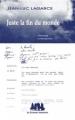 Couverture Juste la fin du monde Editions Les Solitaires Intempestifs 2012
