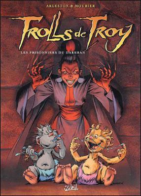 Couverture Trolls de Troy, tome 09 : Les prisonniers du Darshan
