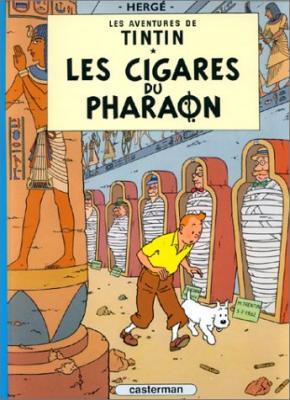 Couverture Les aventures de Tintin, tome 04 : Les Cigares du pharaon