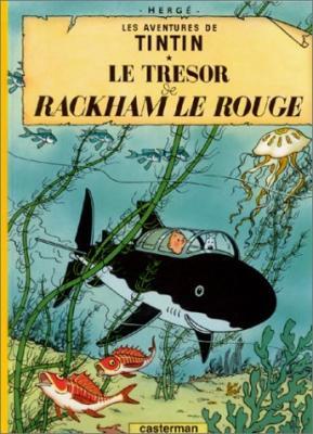 Couverture Les aventures de Tintin, tome 12 : Le Trésor de Rackham le Rouge