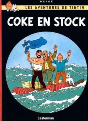 Couverture Les aventures de Tintin, tome 19 : Coke en stock