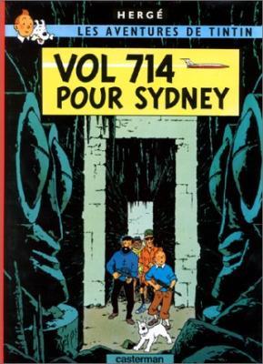 Couverture Les aventures de Tintin, tome 22 : Vol 714 pour Sydney