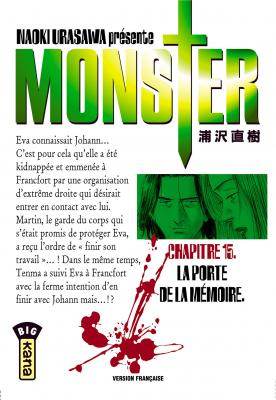 Couverture Monster, tome 15 : La porte de la mémoire