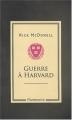 Couverture Guerre à Harvard Editions Flammarion 2008