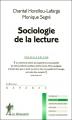 Couverture Sociologie de la lecture Editions La découverte (Repères) 2014