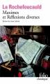 Couverture Maximes et Réflexions diverses Editions Folio  (Classique) 1976