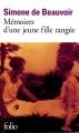 Couverture Mémoires d'une jeune fille rangée Editions Folio  2008