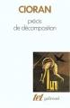 Couverture Précis de décomposition Editions Gallimard  (Tel) 1977