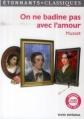 Couverture On ne badine pas avec l'amour Editions Flammarion (GF - Etonnants classiques) 2014