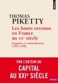 Couverture Les hauts revenus en France au XXème siècle Editions Points (Histoire) 2016