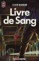 Couverture Livres de sang, tome 1 : Livre de sang Editions J'ai Lu (Épouvante) 1987