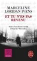 Couverture Et tu n'es pas revenu Editions Le Livre de Poche 2016