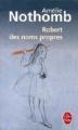 Couverture Robert des noms propres Editions Le Livre de Poche 2007