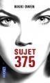 Couverture Sujet 375 Editions Pocket 2016