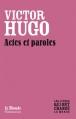 Couverture Actes et paroles Editions Flammarion / Le Monde 2010