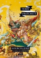 Couverture Les Annales du Disque-Monde, tome 05 : Sourcellerie Editions L'Atalante (La Dentelle du cygne) 2015