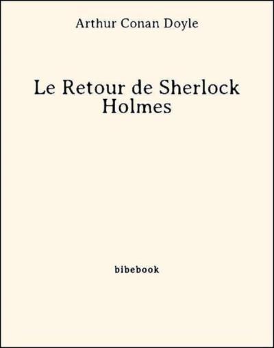 Couverture Le retour de Sherlock Holmes, tome 1
