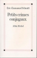 Couverture Petits crimes conjugaux Editions Albin Michel 2003