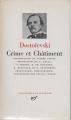 Couverture Crime et châtiment, intégrale Editions Gallimard  (Bibliothèque de la pléiade) 1983