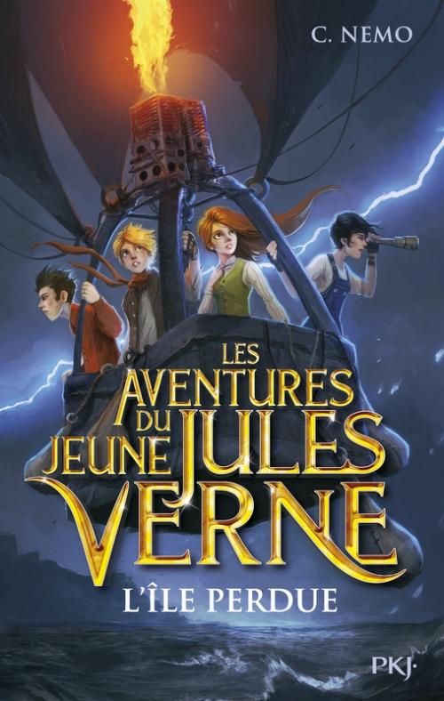 Couverture Les aventures du jeune Jules Verne, tome 1 : L'île perdue