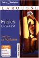 Couverture Fables Editions Larousse (Petits classiques) 2008
