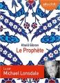 Couverture Le prophète Editions Audiolib 2010