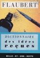 Couverture Dictionnaire des idées reçues Editions Mille et une nuits 1997