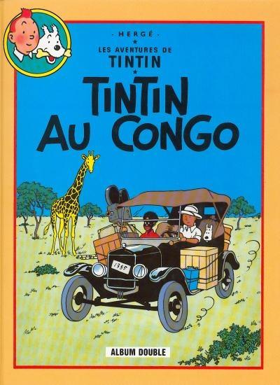 Couverture Les aventures de Tintin (France Loisirs), tome 01 : Tintin au Congo, Tintin en Amérique