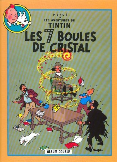 Couverture Les aventures de Tintin (France Loisirs), tome 07 : Les 7 boules de cristal, Le temple du Soleil