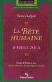 Couverture La Bête humaine Editions Groupe Beauchemin (Parcours d'une oeuvre) 2004