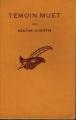 Couverture Témoin muet Editions Le Masque 1950