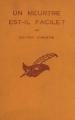 Couverture Un meurtre est-il facile ? Editions Le Masque 1957