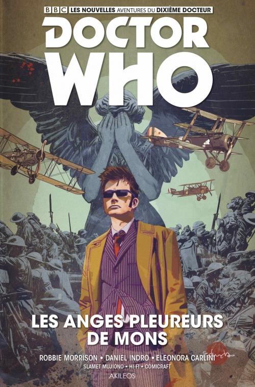 Couverture Doctor Who : Le dixième docteur, tome 2 : Les anges pleureurs de Mons
