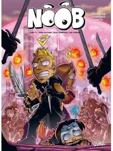Couverture Noob (BD), tome 11 : Trois factions, trois champions, une légende !