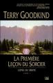 Couverture L'épée de vérité, tome 01 : La première leçon du sorcier Editions Bragelonne 2013