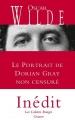 Couverture Le portrait de Dorian Gray, non censuré Editions Grasset (Les Cahiers Rouges) 2016