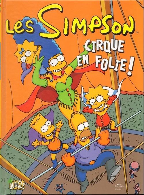 Couverture Les Simpson Cirque en folie !