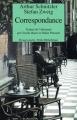 Couverture Correspondance - Arthur Schnitzler et Stefan Zweig Editions Rivages 1994