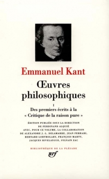 Couverture Kant : Oeuvres philosophiques, tome1