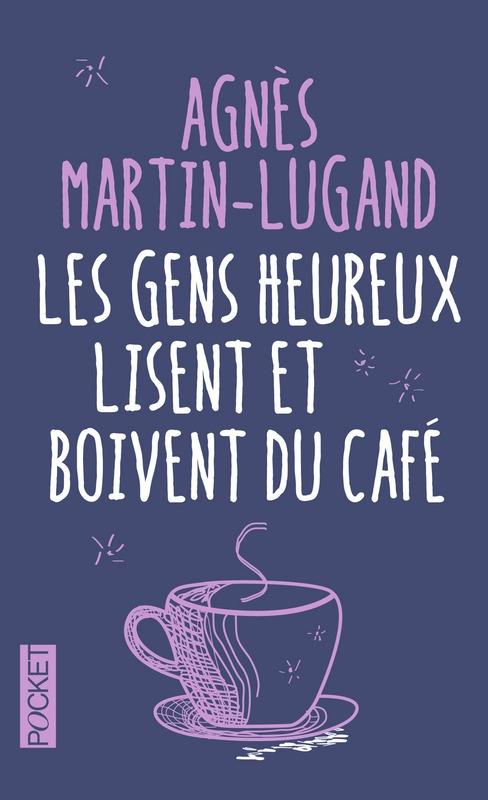 Couverture Les gens heureux lisent et boivent du café