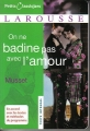 Couverture On ne badine pas avec l'amour Editions Larousse (Petits classiques) 2006
