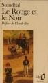 Couverture Le rouge et le noir Editions Folio  1972