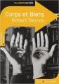 Couverture Corps et biens Editions Belin / Gallimard (Classico - Lycée) 2016